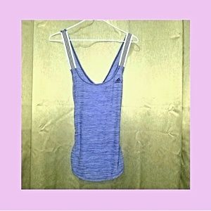 Adidas purple athletic tank